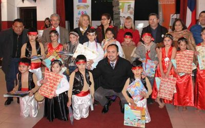 Niños de prekinder de Nancagua reciben el rincón de juegos Rinju