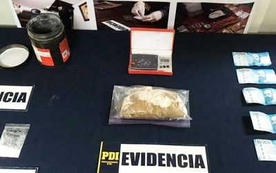PDI detiene a sujeto que comercializaba drogas en lujoso automóvil