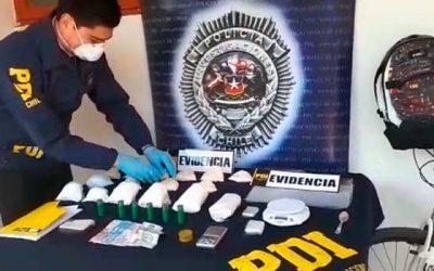 PDI incauta dos kilos de drogas en Santa Cruz