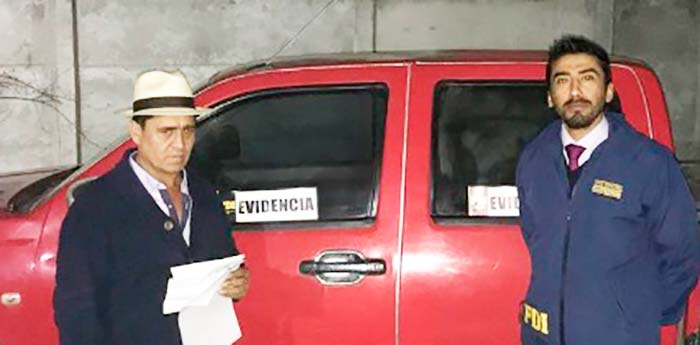 PDI recupera camioneta en Chépica