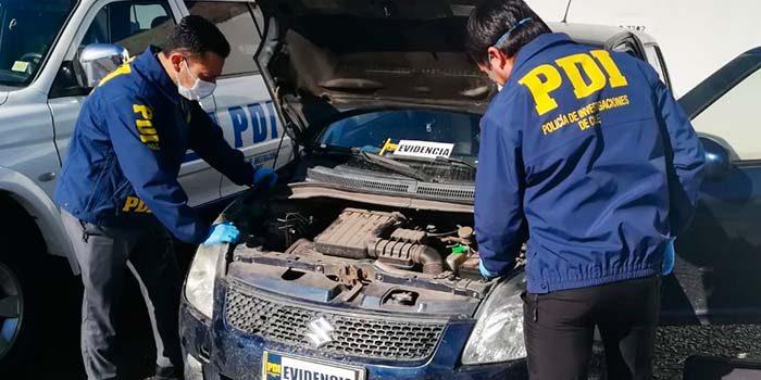 PDI recupera vehículo robado en portonazo