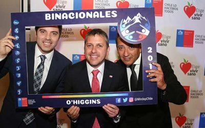 Autoridades chilenas y argentinas lanzan los XXI Juegos Binacionales de Integración Andina Cristo Redentor