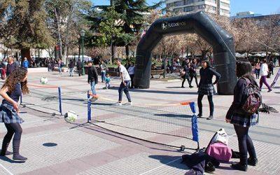 El fútbol se adueñó de la Plaza de los Héroes en Rancagua
