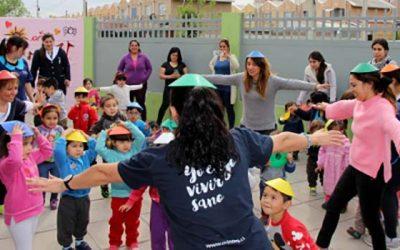 Niños de jardín de Integra potencian vida sana y comida saludable