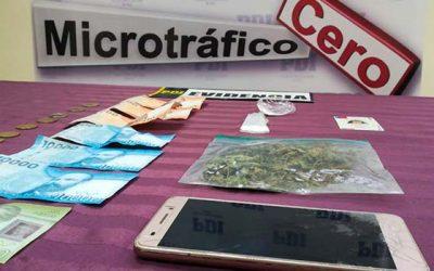PDI de San Vicente detiene a madre e hijo que traficaban droga en su vivienda