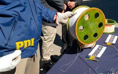 PDI incauta alrededor de 30 kilómetros de hilo curado en Rancagua