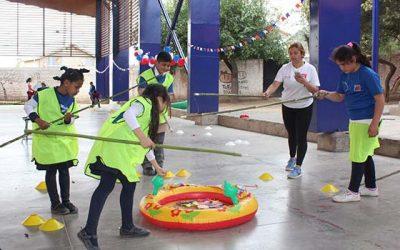 Salud Machalí fomenta la actividad física en fiestas patrias junto a niños del Programa 4 a 7