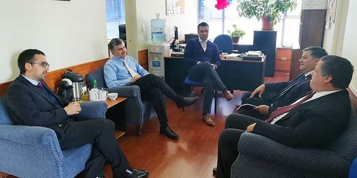 TOP de Santa Cruz coordina acciones de trabajo con PDI local