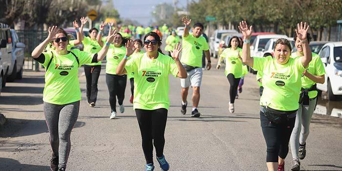 700 personas participaron de la corrida familiar en Lo Miranda