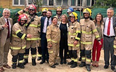 Bienes Nacionales entrega en concesión terreno que albergará cuartel para bomberos de San Vicente