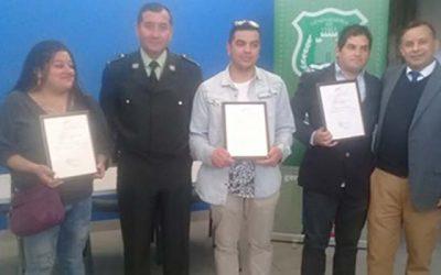 CAIS de Rengo entrega certificación a 12 usuarios del sistema postpenitenciario