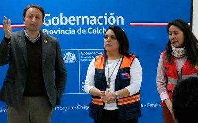Gobernación de Colchagua conforma mesa de incendios forestales