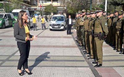 Gobernadora de Cachapoal encabeza 7ma ronda nacional de patrullaje preventivo en la Región