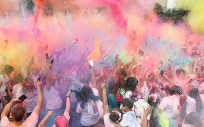 Más de 3 mil personas disfrutaron y participaron en la corrida del color