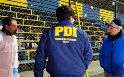 PDI investiga homicidio frustrado en estadio municipal de Rengo