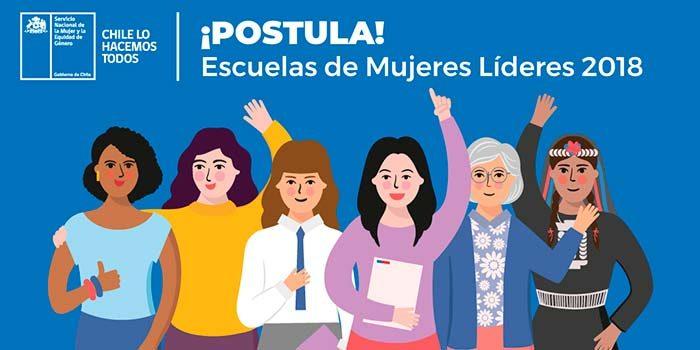 Se inició proceso de postulación a Escuelas de Mujeres Líderes 2018 del Sernameg