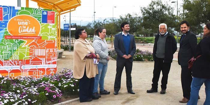 Vecinos y autoridades regionales del Minvu inspeccionaron obras de mantenimiento del Parque Cordillera