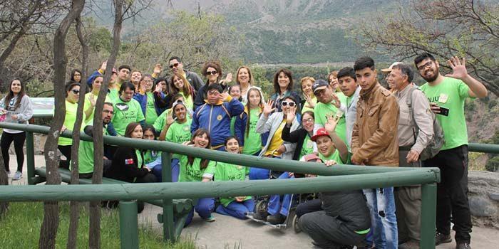 Alumnos del Colegio especial Ave Fénix de Rancagua conocen Reserva Nacional Río de Los Cipreses