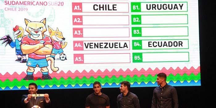 Chile compartirá grupo con Brasil, Colombia, Venezuela y Bolivia