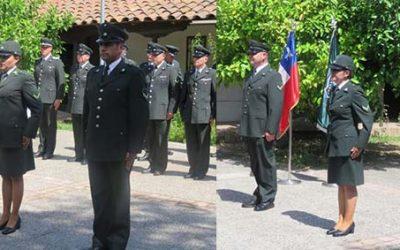 Director regional encabeza ceremonia de ascensos en Rancagua