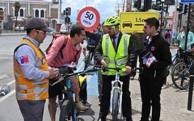 En Rancagua fueron atendidas consultas sobre la Ley de Convivencia de Modos en la vía pública