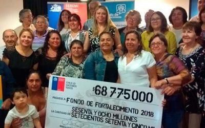 Más de 60 millones son entregados para organizaciones sociales de la Región
