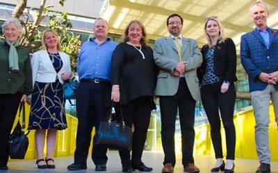 Parlamentarios británicos visitan la Universidad de OHiggins y destacan su rápido progreso