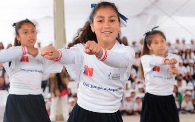 Programa aumentará el tiempo efectivo de educación física en los colegios