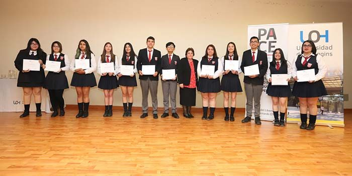 Programa PACE-UOH certificó a estudiantes que participaron del proceso 2018 en la Región de OHiggins