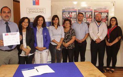 Servicio de Salud OHiggins firma compromiso de tolerancia cero contra la violencia