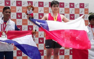 Chimbaronguino es doble medallista de oro y récord sudamericano en lanzamiento de la bala
