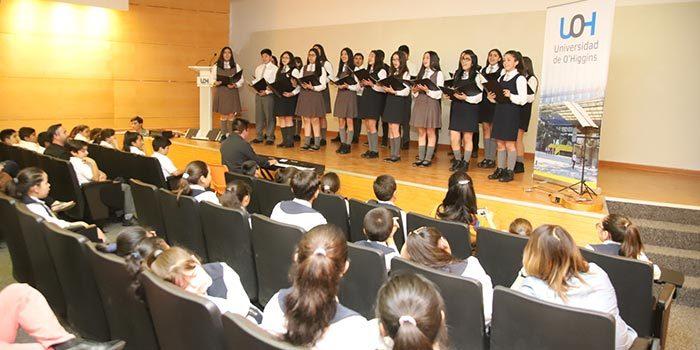 Colegios de Mostazal, Chimbarongo, Coltauco y Rancagua participaron de Tercer Encuentro Regional de Coros Escolares