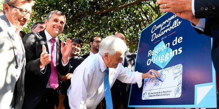 El Presidente Piñera ha anunciado una inversión histórica pensada para que el desarrollo llegue a todas las personas de O'Higgins