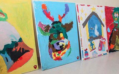 Niños pintan para niños, un regalo para pacientes del Hospital Regional