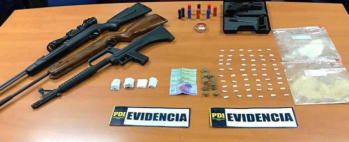 PDI detiene a hermanos que comercializaban drogas y amedrentaban a vecinos