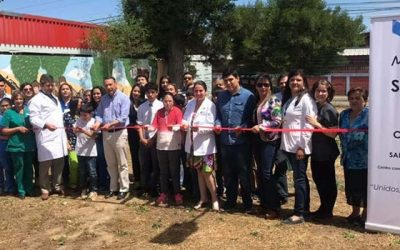 Salud Machalí inaugura mural comunitario en Santa Teresa