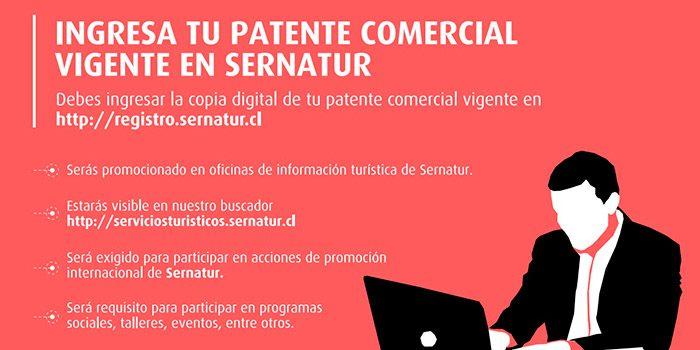 Sernatur OHiggins extiende llamado a servicios turísticos registrados para que actualicen sus patentes comerciales