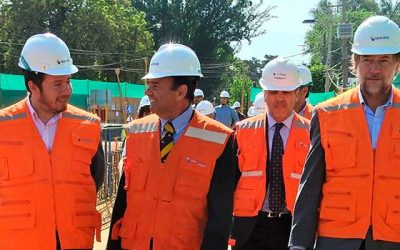 Verifican trabajos de construcción del cruce vehicular desnivelado La Compañía en Graneros
