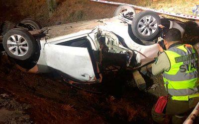 Accidente de tránsito con resultado de muerte en Chimbarongo