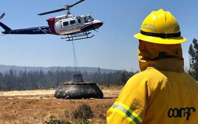 Conaf despliega todos los recursos a combate de incendio forestal en comuna de Navidad