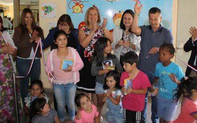 Inauguran Muro Interactivo en Dirección de Desarrollo Comunitario de municipio de Requínoa