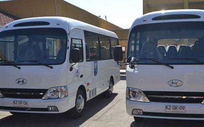 Municipalidad de La Estrella compra buses para el traslado de estudiantes con fondos FAEP