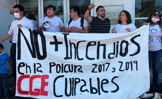 Navidad marcha contra CGE para que asuma la responsabilidad de incendio que arrasó con 400 hectáreas