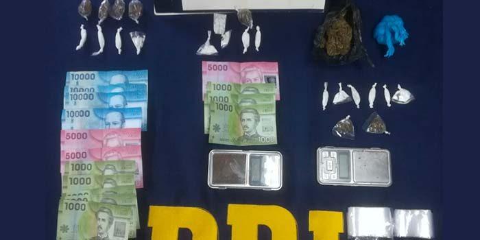 PDI detiene a dos menores de edad por microtráfico de drogas en Pichilemu