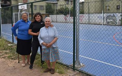 Profesionales del Minvu y del municipio de San Fernando visitan obras de las villas Bellavista y Los Lingues