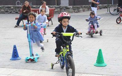 Salud Machalí realiza circuito de rodados para originar conductas saludables en preescolares