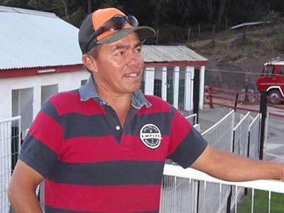 Aldo Díaz que tuvo a su cargo la construcción de las piscinas