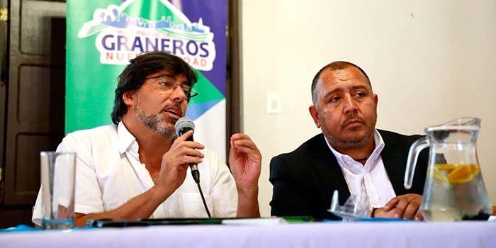 Alcalde Jadue firma convenio de cooperación con Graneros