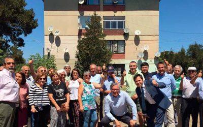 Autoridades recorren trabajos de mejoramiento en Villa Ramón Torres