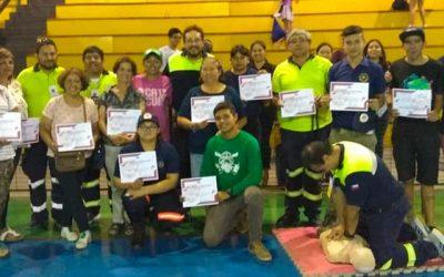 Capacita a comunidad de Graneros en RCP y procedimientos de emergencia
